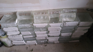 42 pieces of Glass Blocks with 6 corner pieces