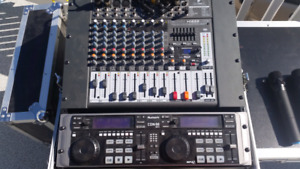 Dj/PA system with microphones