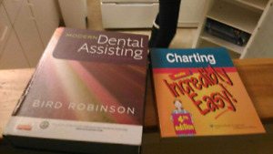 Dental assistant and anatomy textbooks