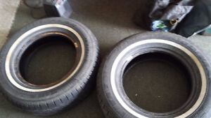 FOUR (4) WHITE WALL TIRES (215/70/15)