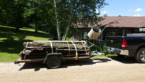 4 1/2 'x10' flat bed trailer