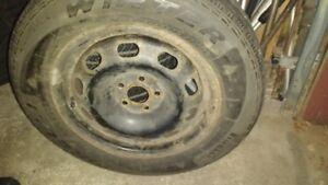 "Pirelli winter tires and rims 195/65R15"""