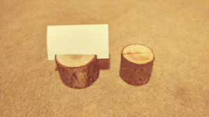 Real wood place card holders