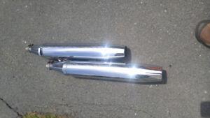 Yamaha V Star Silverado exhaust pipes
