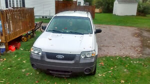 2005 Ford Escape White SUV, Crossover