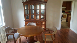 Chairs, table,china cabinet