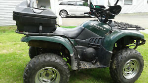 2004 Yamaha grizzly complete engine rebuilt have receipts.