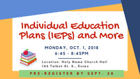 Individual Education Plans (IEPs) and More