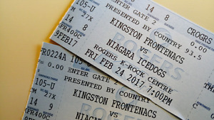 2 Frontenacs tickets Friday Feb 24 7pm