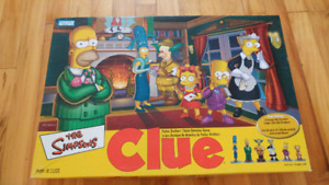 The Simpson's Clue board game