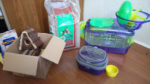 Hamster/small animal cage and accessories