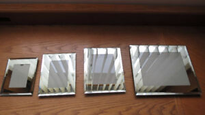 Set of 4 Mirrored Picture Frames