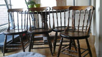 Solid used table and four chairs