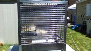 LARGE STAINLESS STEEL VETRINARIAN PET, BIRD, ANIMAL CAGE Stratford Kitchener Area image 3