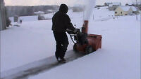 OFFERING RESIDENTIAL SNOW REMOVAL SERVICES
