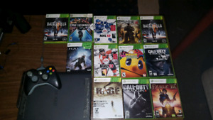 Xbox 360. 1 controller and games