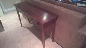 solid maple sofa table