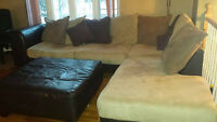 Sectional, Ottoman & Loveseat - $700 FIRM!!