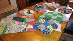 quilting pieces and partly finished projects