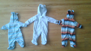 Fleece Suits- newborn and 3 month