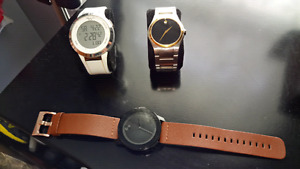 Movado, Kenneth Cole watches.