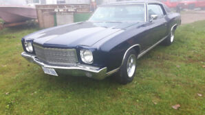 1970 MonteCarlo 2 dr Coupe 350 V8  All original full restoration