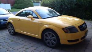 2004 Audi TT Quattro Imola Yellow with Black Interior