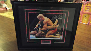 Autographed and framed picture of Georges St.Pierre UFC