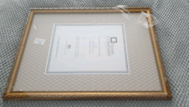 A2 Gold Frame - ideal for Wedding table plan