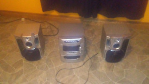 Great Stereo system can hold 5 cd at a time only 60 OBO