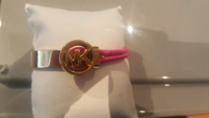 Michael Kors Gold plated and pink bracelet
