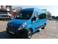 2012 61 RENAULT MASTER 2.3 MM35 DCI S/R 1D 125 BHP 8 SEATER MINI BUS WITH / INT