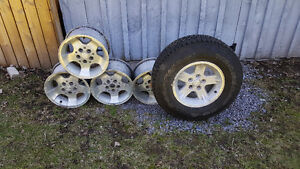 JEEP WRANGLER RIMS AND SPARE TIRE