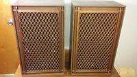 Big Vintage Akai Powerful Speakers -  Haut-parleur Puissant -