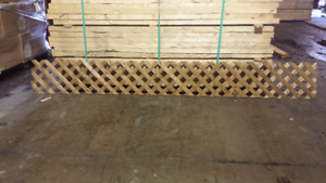 Several Brand New Sheets of Pressure Treated 1x8 Lattice