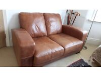 Amazingly comfy Two seater leather sofa £99 Collection Only