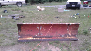 8foot plow with mount winch and controls450$ or trade
