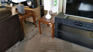 ASHLEY FURNITURE HOLLYTYNE COFFEE TABLE WITH 2 END TABLES
