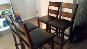 4 Tall Dining Chairs