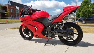 Low Mileage - Red Kawasaki Ninja 250R