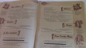 Beaver Club Menu, French and English, Montreal Kitchener / Waterloo Kitchener Area image 4