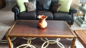 large burnt orange vase