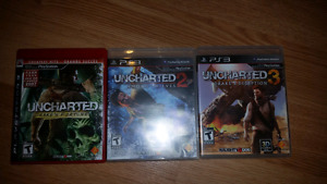 Uncharted 1.2, and 3 ps3