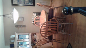 Oak dinning room set Cambridge Kitchener Area image 1