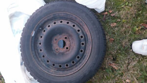 """15"""" Goodyear Nordic Winter Tires 195/55R/15 and rims X4 Belleville Belleville Area image 1"""