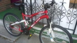 4 mountain bikes.