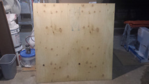 """5/16"""" 4' by 4' plywood"""