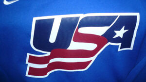 USA HOCKEY JERSEY BRAND NEW XXL  BLUE Sharp!!!!!!!