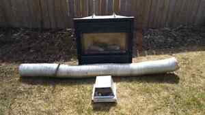 Gas Fireplace with chimney/exhaust duct