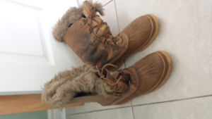 Original Sorel, Winter Snowmobile Leather Boots, Men size 11.